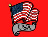 Coloring page U.S. Flag painted byLilypop