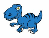 Coloring page Velociraptor dinosaur painted byemma7200