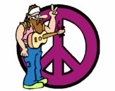 Hippy musician