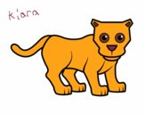 Coloring page Little panther painted byNomiKiara