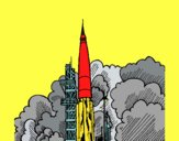 Coloring page Rocket launch painted byace196701