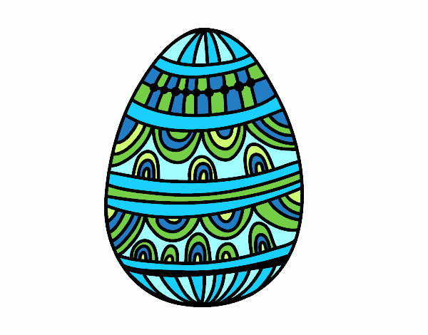 decorated easter egg colored by www coloringcrew com