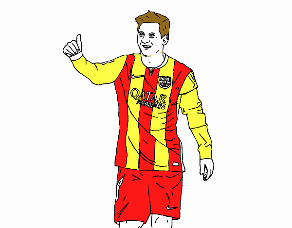 Colored Page Messi Bar 231 A Painted By User Not Registered Soccer Coloring Pages Messi