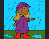 Coloring page Rain painted byCharlotte