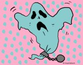Coloring page Ghost in chains painted bycherie