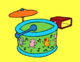 Coloring page Drums painted bymindella