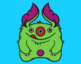 Coloring page Furry Monster painted bymindella