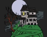 Coloring page Haunted house painted byCharlotte