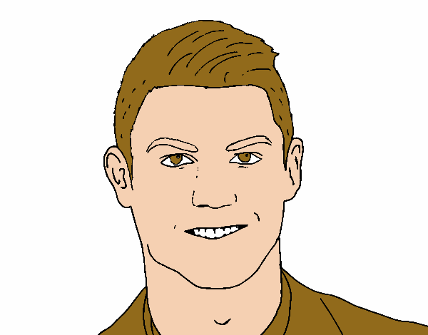 Colored Page Cristiano Ronaldo Face Painted By User Not Registered