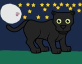 Coloring page Little panther painted byCharlotte