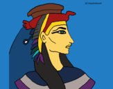Coloring page Pharaoh painted bymindella