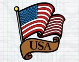 Coloring page U.S. Flag painted bySearlait