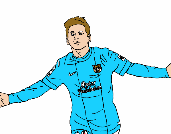 Colored page Messi painted by User not registered