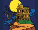 Coloring page Haunted house painted byKArenLee