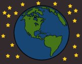 Coloring page Planet Earth painted byCharlotte