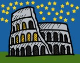 Coloring page Roman amphitheatre painted byCharlotte