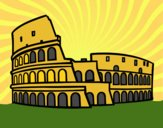 Coloring page Roman colosseum painted byCharlotte
