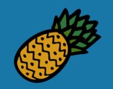 Coloring page Tropical pineapple painted byKArenLee