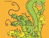 Coloring page Japanese dragon painted byKArenLee