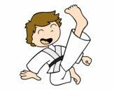 Jump and kick