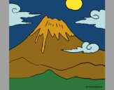 Coloring page Mount Fuji painted byKArenLee