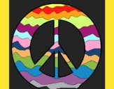 Coloring page Peace symbol painted byKArenLee