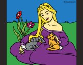 Coloring page Princess of the forest painted byKArenLee