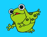 Coloring page A toad painted byKArenLee
