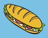 Coloring page Full sandwich painted byKArenLee