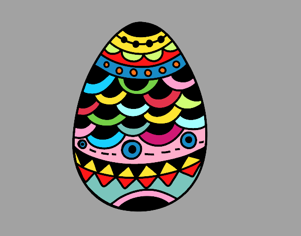 Coloring page japanese-style easter egg painted byKArenLee