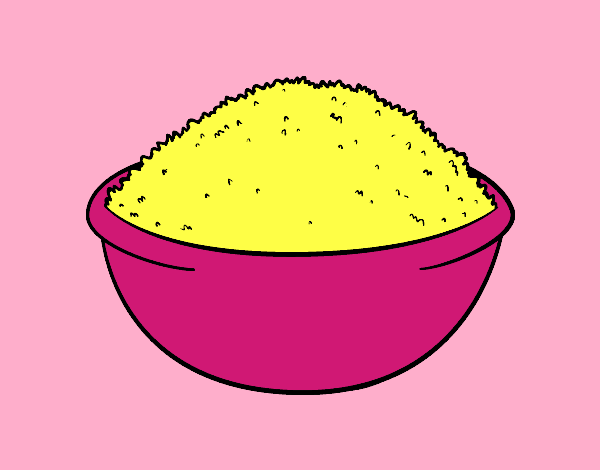 Coloring page Rice dish painted byKArenLee