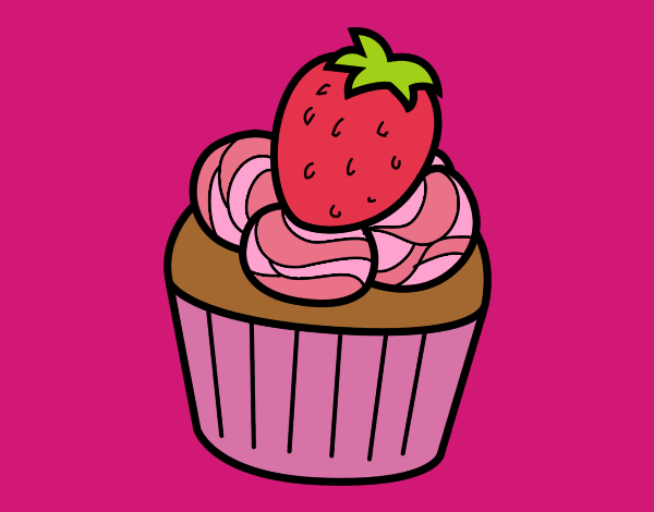 Coloring page Strawberry chocolate painted byKArenLee