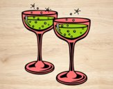 Coloring page Champagne glasses painted byvaishu