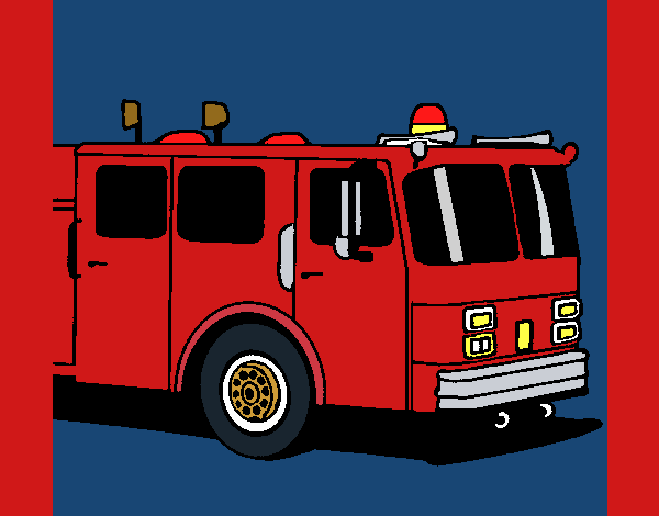 Coloring page Fire engine painted byKArenLee
