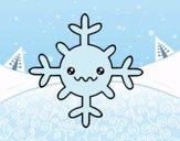 Coloring page Snowflake kawaii painted bybarbie_kil