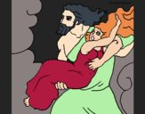Coloring page The abduction of Persephone painted byCharlotte