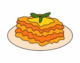 Coloring page Lasagna painted byCharlotte