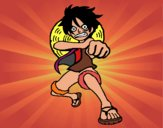 Luffy beating