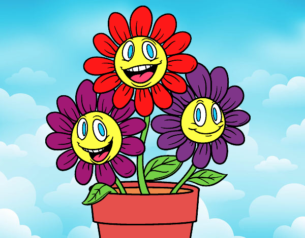 Coloring page Flower pot painted byKota