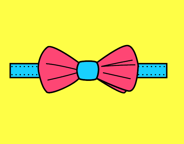 Coloring page Modern bow tie painted byKota