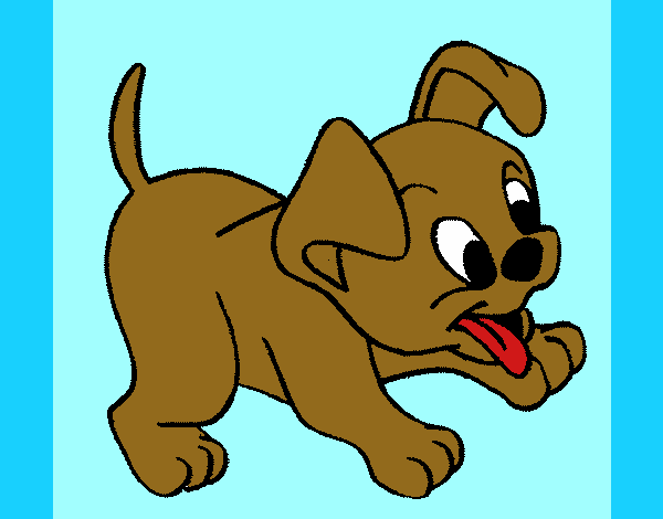 Coloring page Puppy painted byKArenLee
