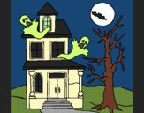 Coloring page Ghost house painted byCharlotte