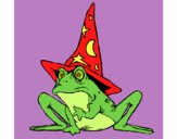 Magician turned into a frog