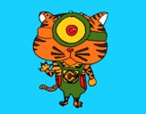 Coloring page Minion Tiger painted bymindella