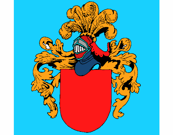 Shield with weapons and helmet