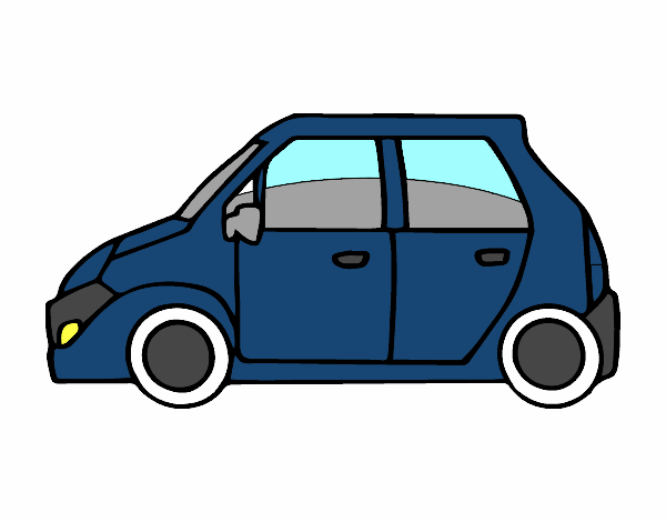 A Small Car Colored By