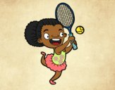Coloring page Tennis player painted bybarbie_kil