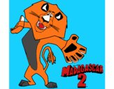 Coloring page Madagascar 2 Alex 2 painted bymindella