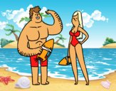 Coloring page Lifeguards painted bybarbie_kil