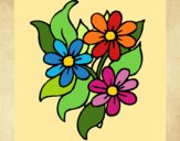 Coloring page Little flowers painted bykatie